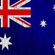 Grunge Australia Flag Poster
