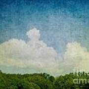 Grunge Background With Landscape Poster by Mythja  Photography