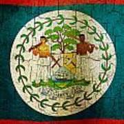 Grunge Belize Flag  Poster