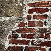 Grunge Brick Wall Poster