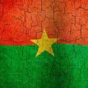 Grunge Burkina Faso Flag Poster