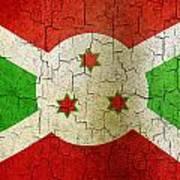 Grunge Burundi Flag Poster