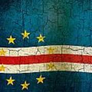 Grunge Cape Verde Flag Poster
