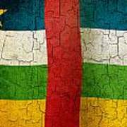 Grunge Central African Republic Flag Poster