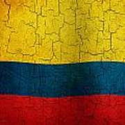 Grunge Colombia Flag Poster