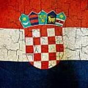 Grunge Croatia Flag Poster
