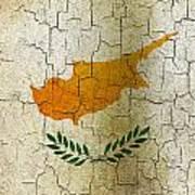 Grunge Cyprus Flag Poster