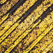 Grunge Dirty Yellow Texture Poster
