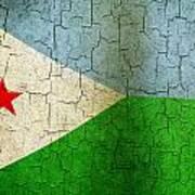 Grunge Djibouti Flag Poster