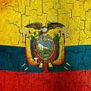 Grunge Ecuador Flag Poster