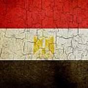 Grunge Egypt Flag Poster