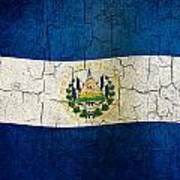 Grunge El Salvador Flag Poster