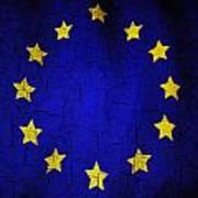 Grunge European Union Flag Poster