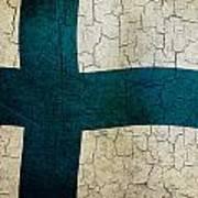 Grunge Finland Flag Poster