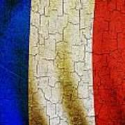 Grunge France Flag Poster