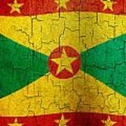 Grunge Grenada Flag Poster