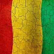 Grunge Guinea Flag Poster