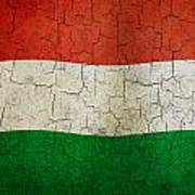 Grunge Hungary Flag Poster