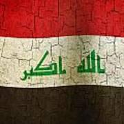 Grunge Iraq Flag Poster