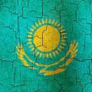 Grunge Kazakhstan Flag Poster