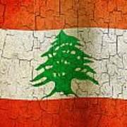 Grunge Lebanon Flag Poster