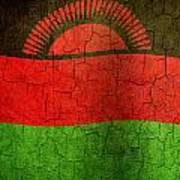 Grunge Malawi Flag Poster