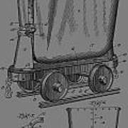 Grunge Mine Trolley Patent Poster