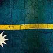 Grunge Nauru Flag Poster