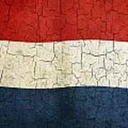 Grunge Netherlands Flag Poster