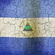 Grunge Nicaragua Flag Poster
