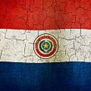 Grunge Paraguay Flag Poster