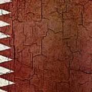 Grunge Qatar Flag Poster