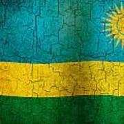 Grunge Rwanda Flag Poster
