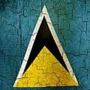 Grunge Saint Lucia Flag Poster