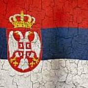 Grunge Serbia Flag Poster