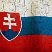 Grunge Slovakia Flag Poster