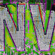 Grunge Style Denver Sign Poster