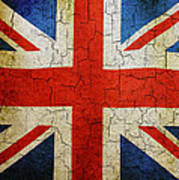 Grunge Union Flag Poster