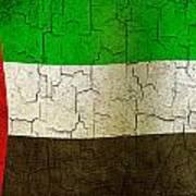 Grunge United Arab Emirates Flag Poster