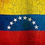 Grunge Venezuela Flag Poster