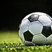 Grungy Grainy Soccer Ball E64 Poster