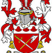 Grymes Coat Of Arms Irish Poster