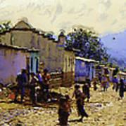Guatemalan Street Life Poster
