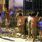 Guatemalan Line Of Boys Poster