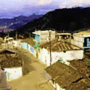 Guatemalan Roof Top Poster