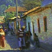 Guatemalan Scene Painter Poster