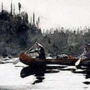 Guides Shooting Rapids Poster by Winslow Homer