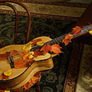 Guitar Autumn 1 Poster