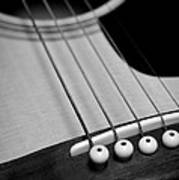 Guitar Bridge In Black And White Poster