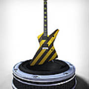 Guitar Desplay V3 Poster by Frederico Borges
